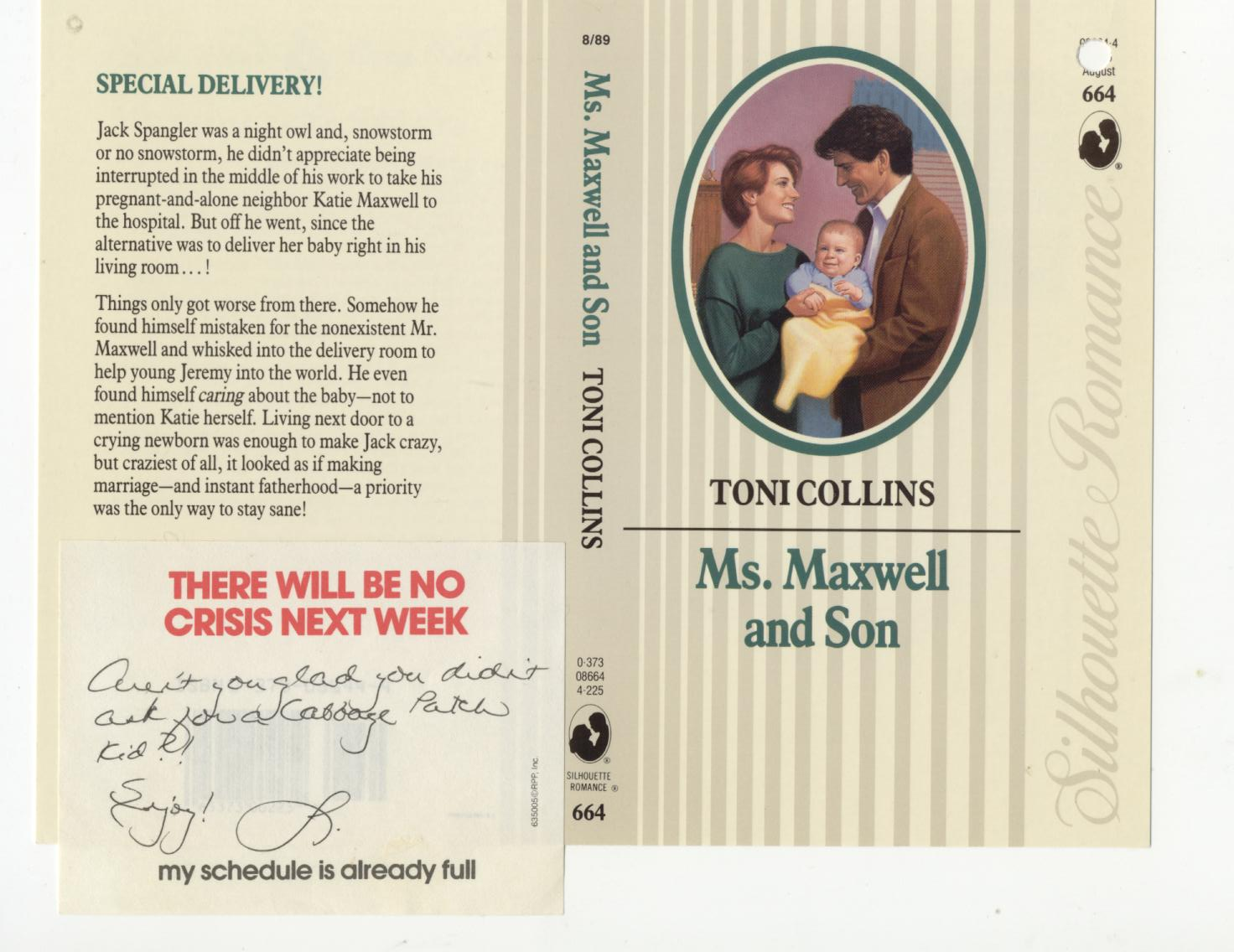 MS MAXWELL AND SON cover